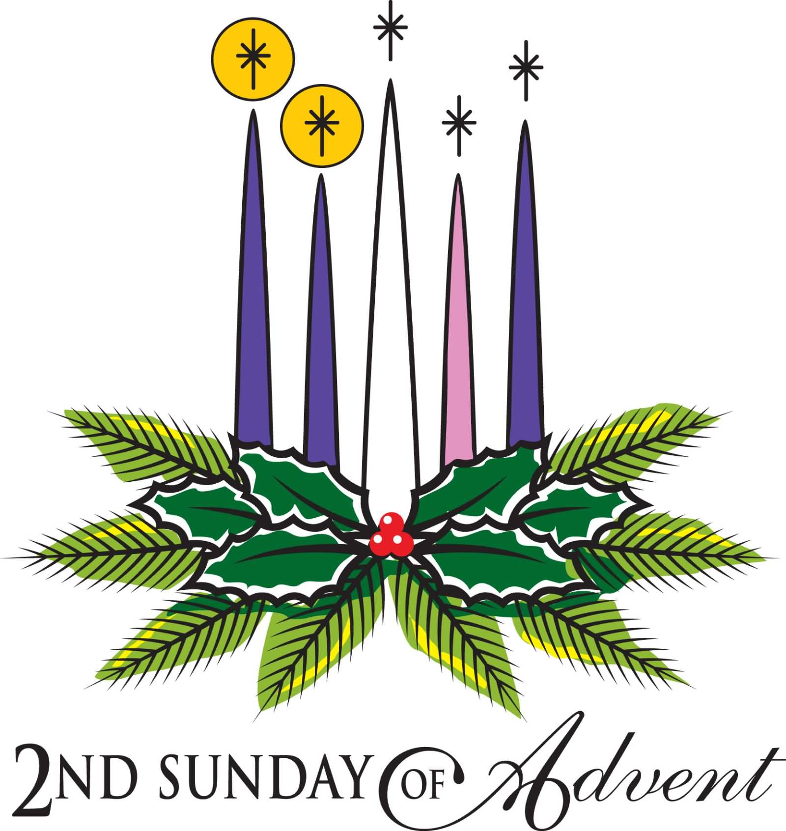 hight resolution of second sunday of advent wreath clipart