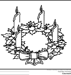 clipart christmas advent wreath black and white [ 3120 x 2455 Pixel ]