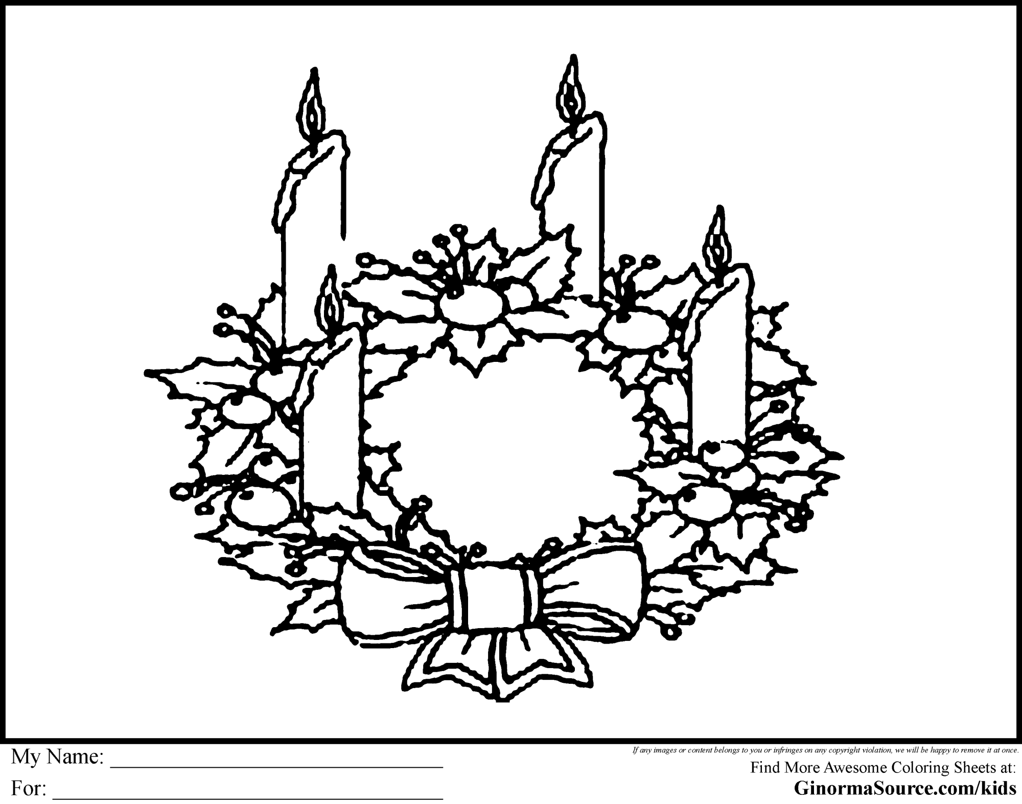 hight resolution of clipart christmas advent wreath black and white