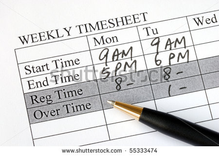 employee time card clipart