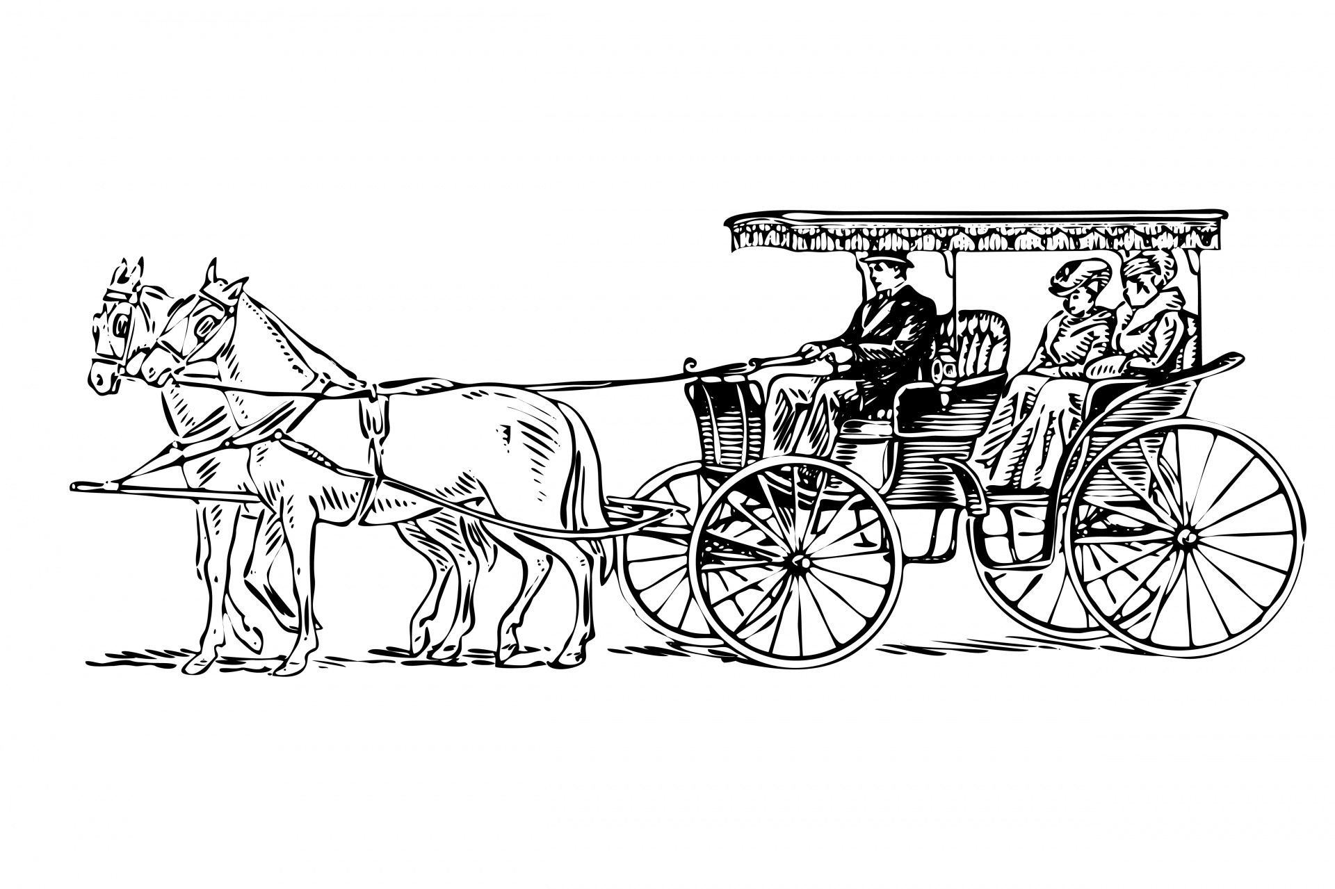 Free Horse Drawn Carriage Cliparts Download Free Clip Art