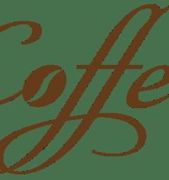 coffee decorative text png vector clipart [ 1607 x 1028 Pixel ]