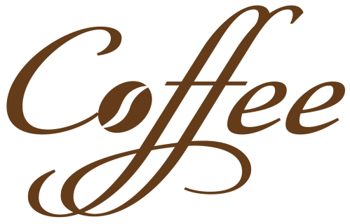 small resolution of coffee decorative text png vector clipart