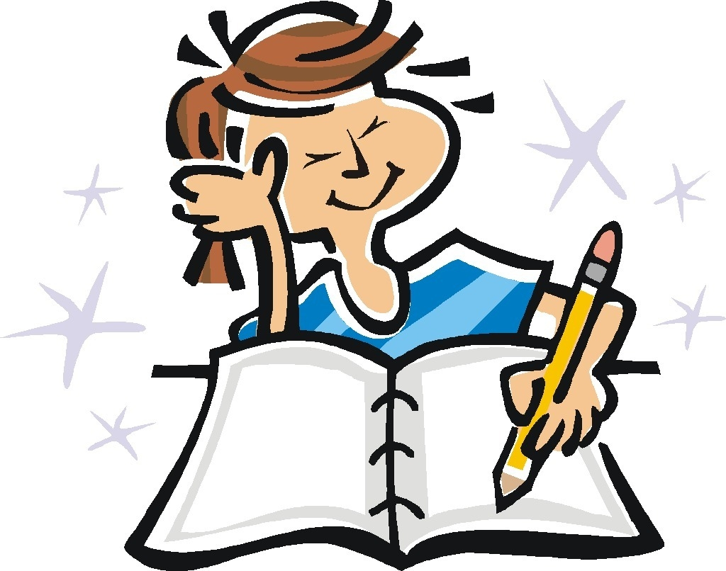 hight resolution of book writing clipart