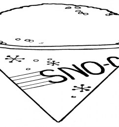 snow cone coloring sheet snow cone clip art black and white [ 1280 x 768 Pixel ]