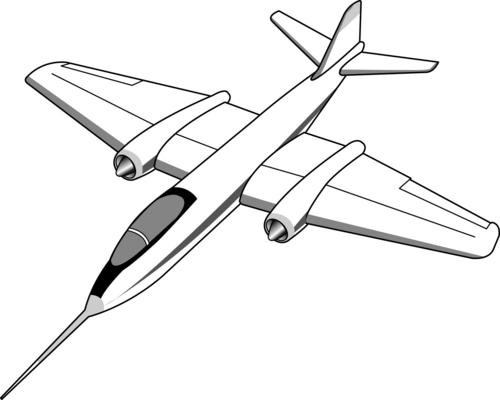 Jet plane clip art