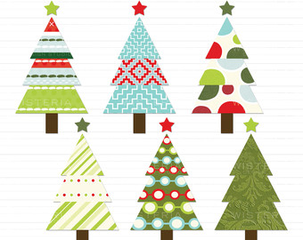 free modern christmas cliparts