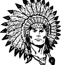 indian chief black and white clipart [ 1020 x 1227 Pixel ]