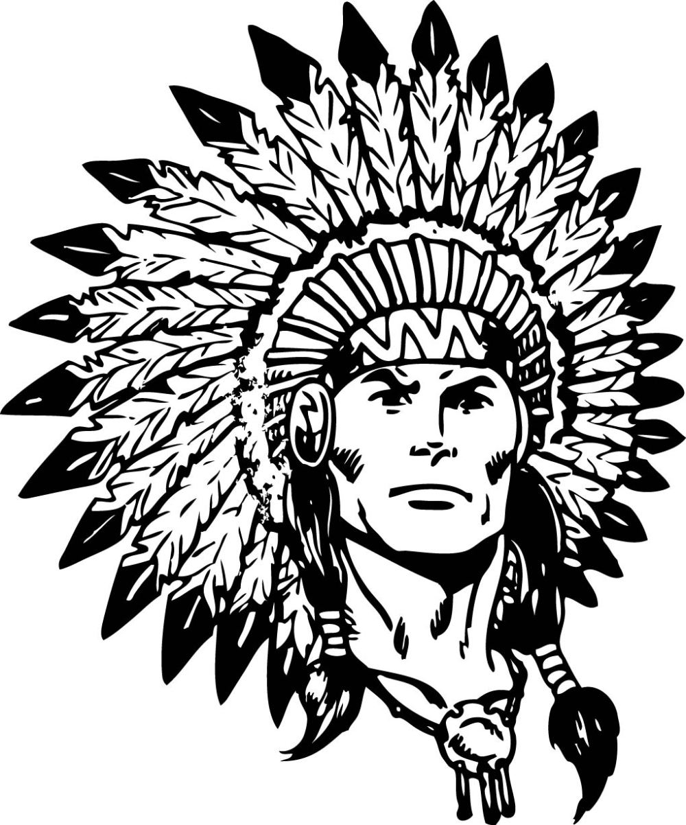 medium resolution of indian chief black and white clipart