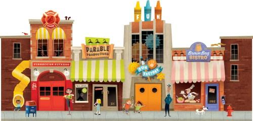 small resolution of city street clip art