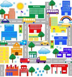 city street clip art city [ 1293 x 1300 Pixel ]