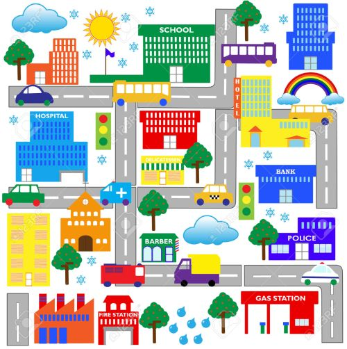 small resolution of city street clip art city