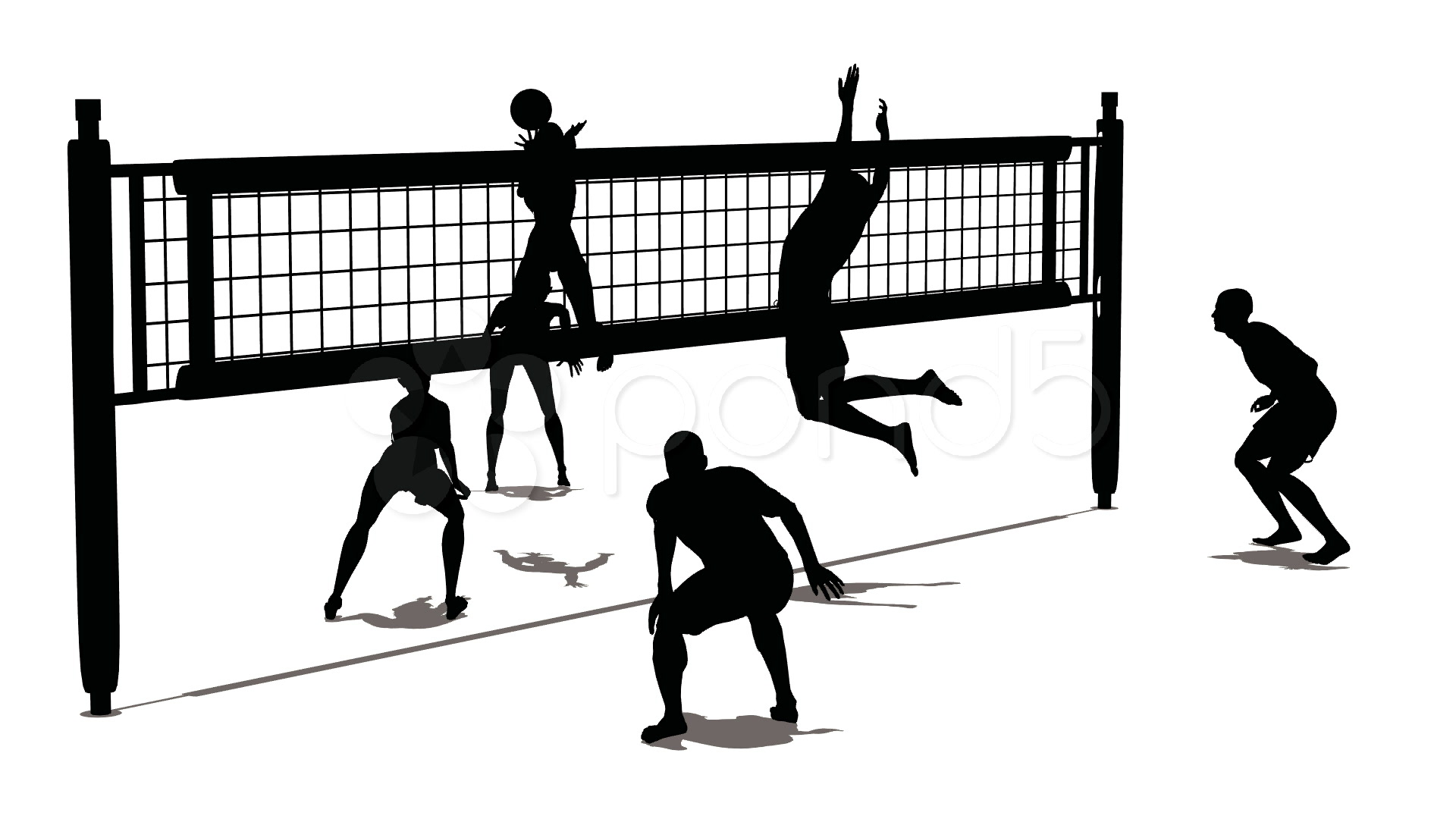 Beach Volleyball Game Clipart