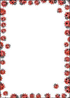 free ladybug border cliparts