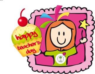 teacher happy teachers clip clipart wishes cliparts appreciation quotes greeting hindi speech library messages poems desicomments