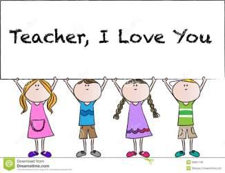 teachers happy clipart card teacher drawing vector illustration cartoon cliparts clip library mothers