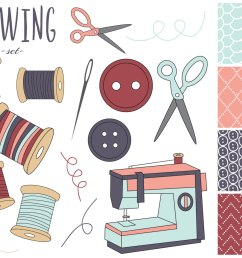 sewing kit clipart [ 1500 x 1200 Pixel ]