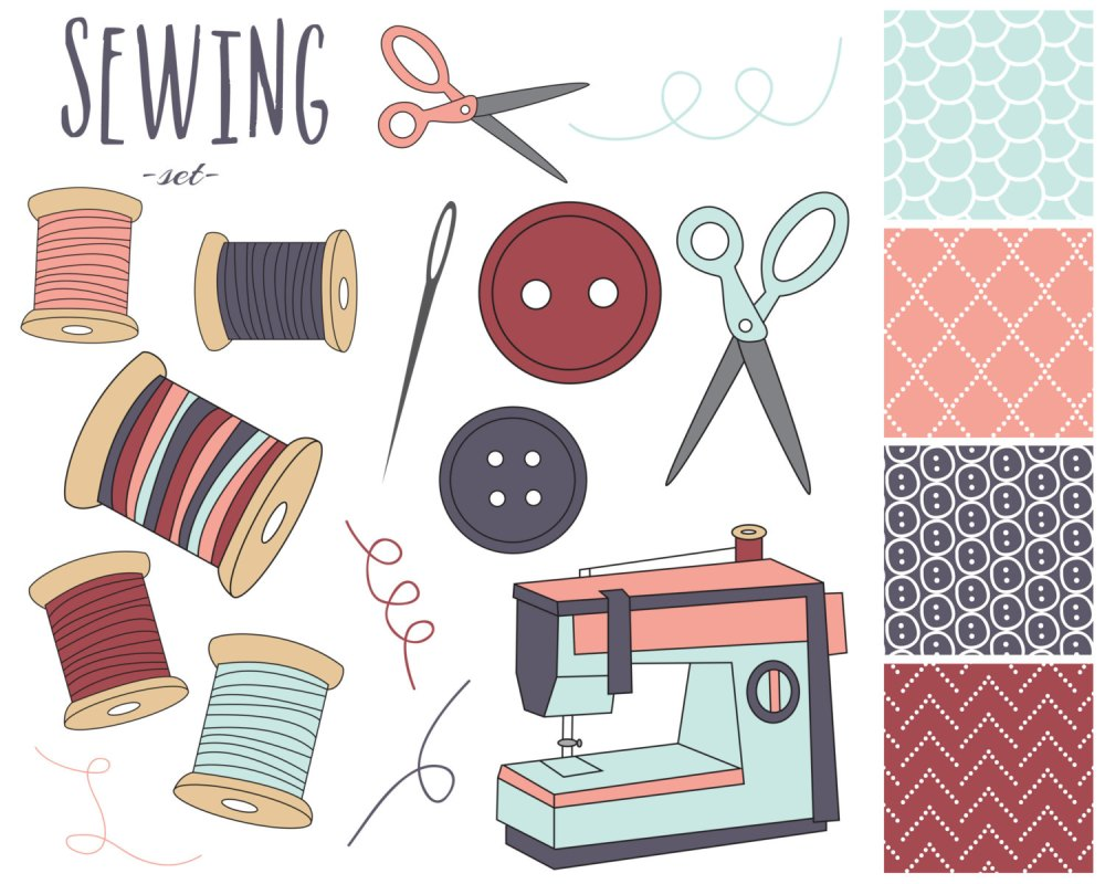 medium resolution of sewing kit clipart