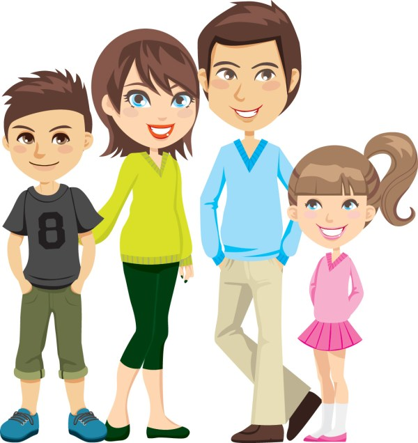 free cartoon family cliparts