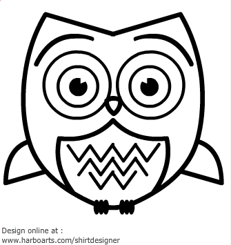 Owl outline clipart vector