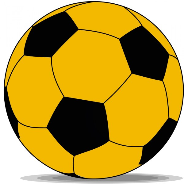 Yellow Soccer Ball Clip Art