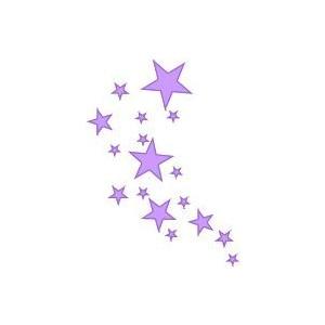 free star purple cliparts
