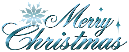 blue merry christmas clipart