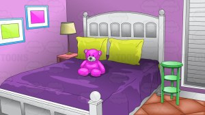 bedroom clipart background cartoon young bed vector toons purple backdrop clip library cartoons teen inside vectortoons cliparts baamboozle teddy under