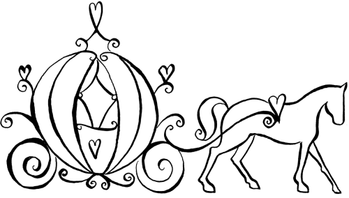 small resolution of wedding carriage clipart