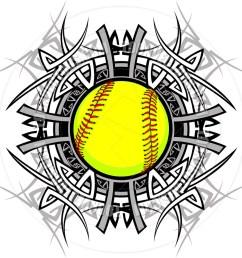 softball clipart [ 940 x 940 Pixel ]