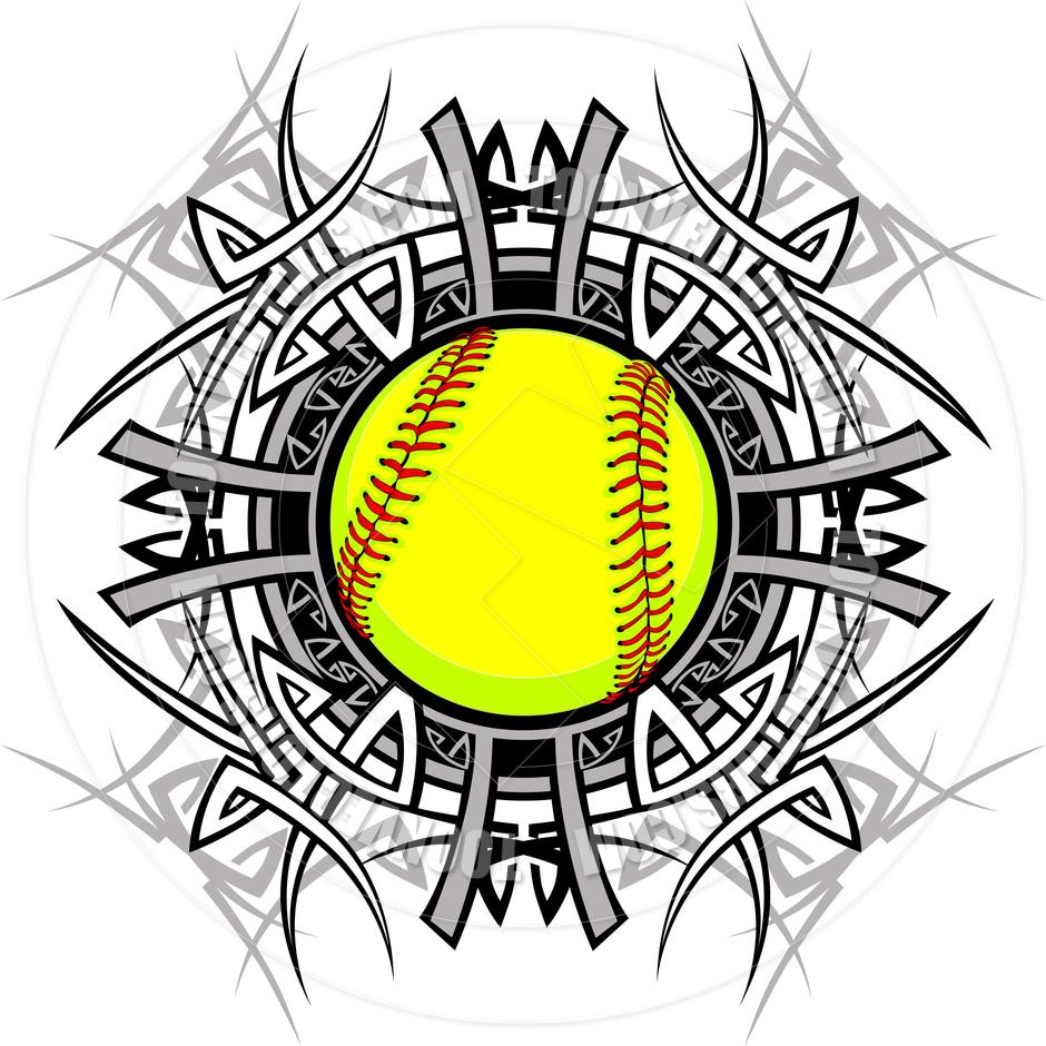 medium resolution of softball clipart