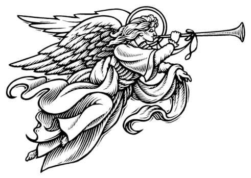 black christmas angels clipart