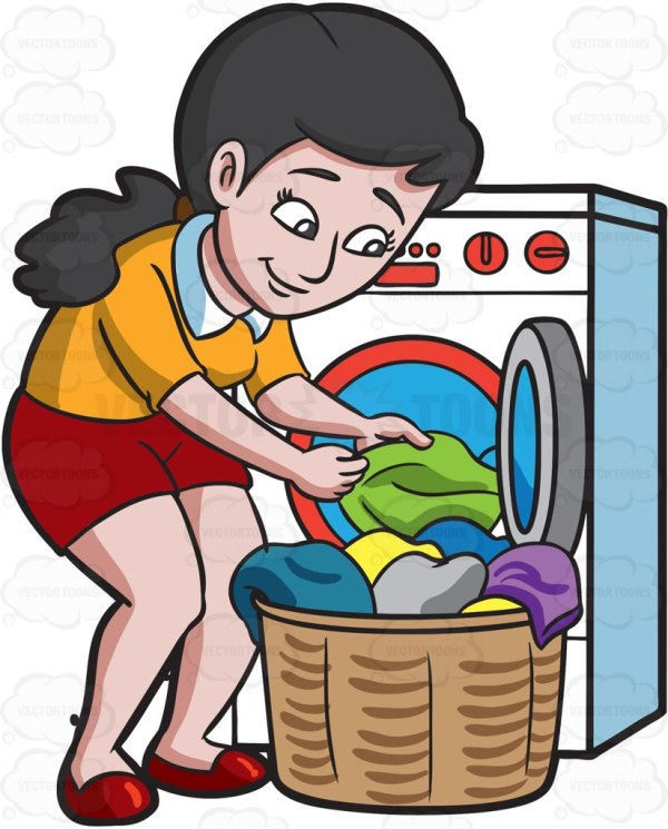 free washing clothes cliparts