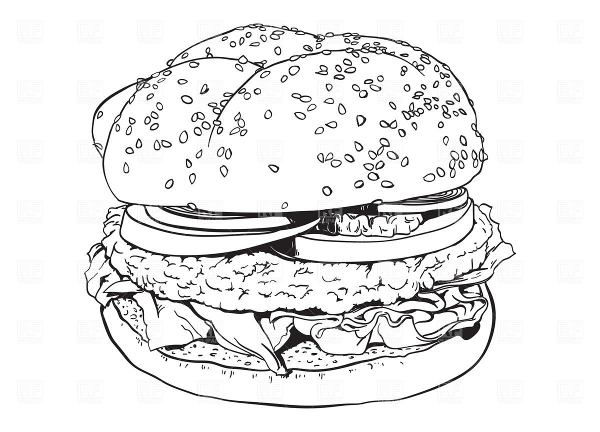 Free Hamburger Cliparts Black Download Free Clip Art Free Clip Art On Clipart Library