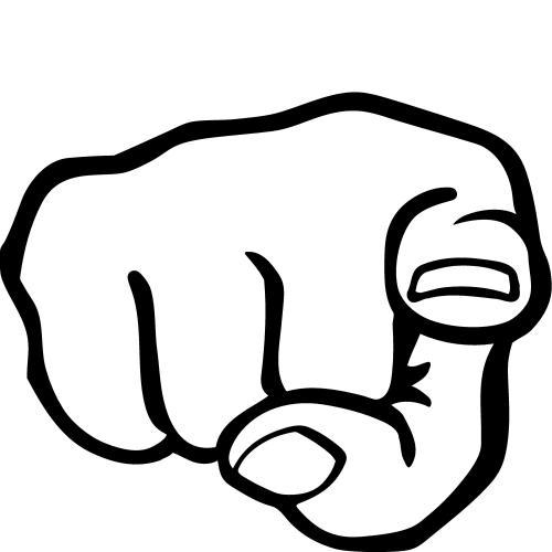 small resolution of pointing finger clip art cartoon