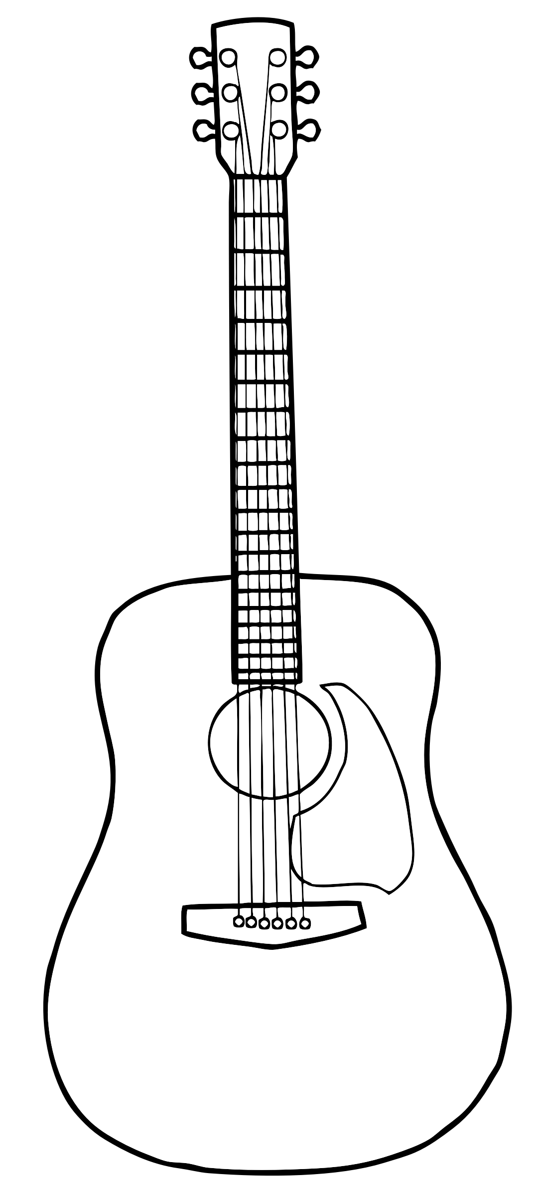 Free Guitar Outline Cliparts Download Free Clip Art Free