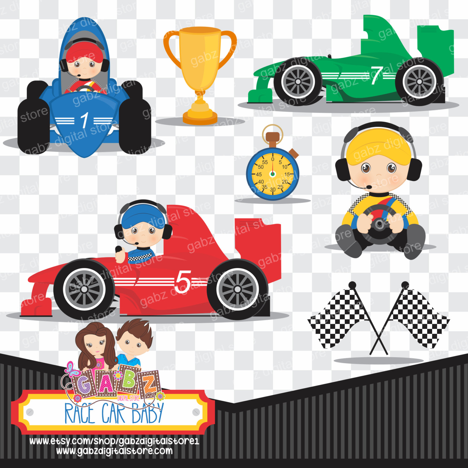 hight resolution of race car clipart baby