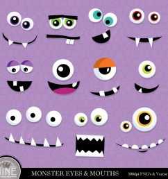 monster eyes free clipart [ 1500 x 1500 Pixel ]