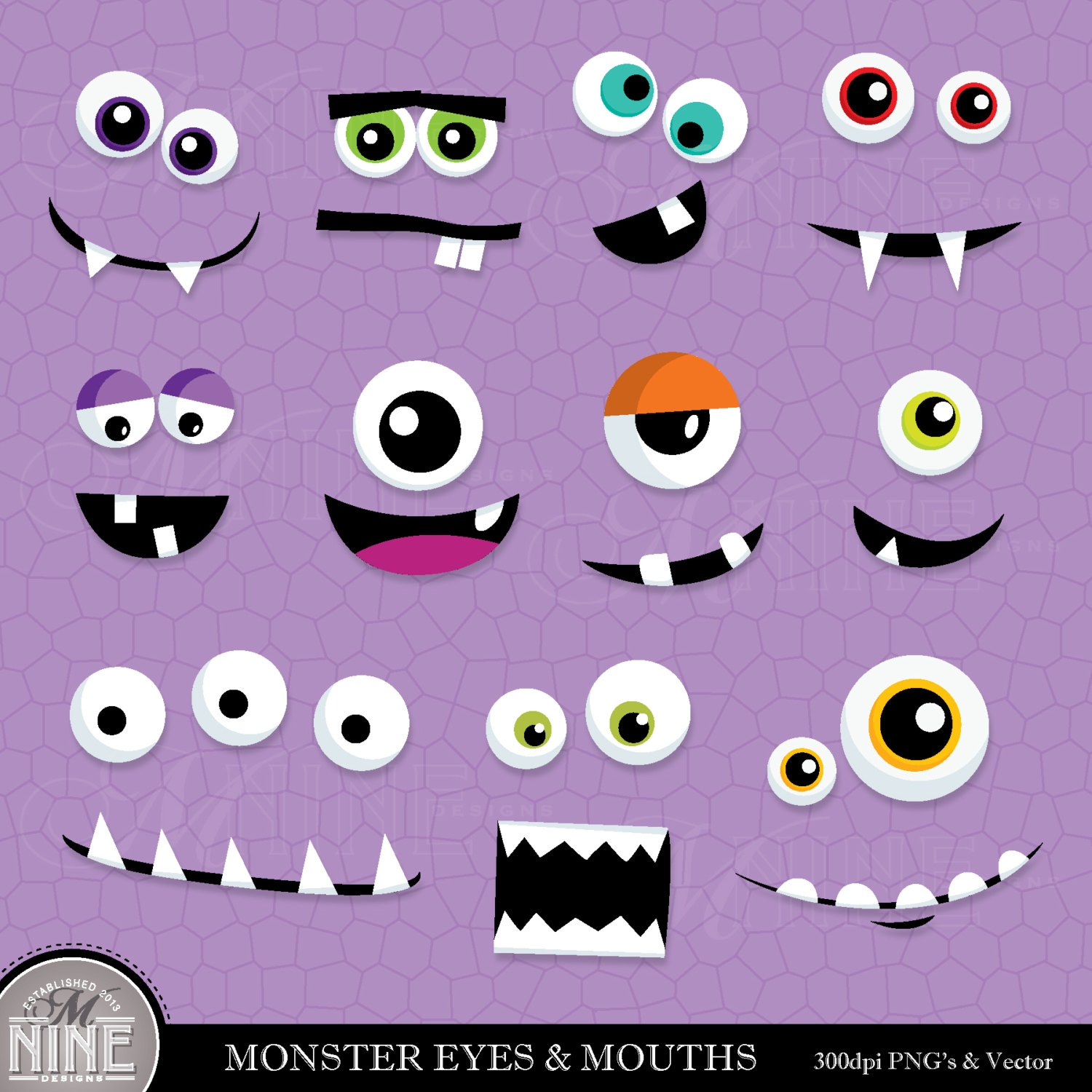 hight resolution of monster eyes free clipart