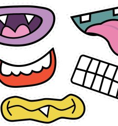 monster mouth clipart monster eyes clipart [ 1174 x 888 Pixel ]