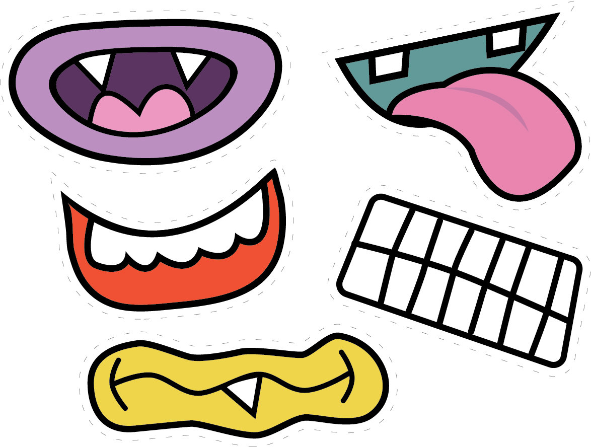 hight resolution of monster mouth clipart monster eyes clipart