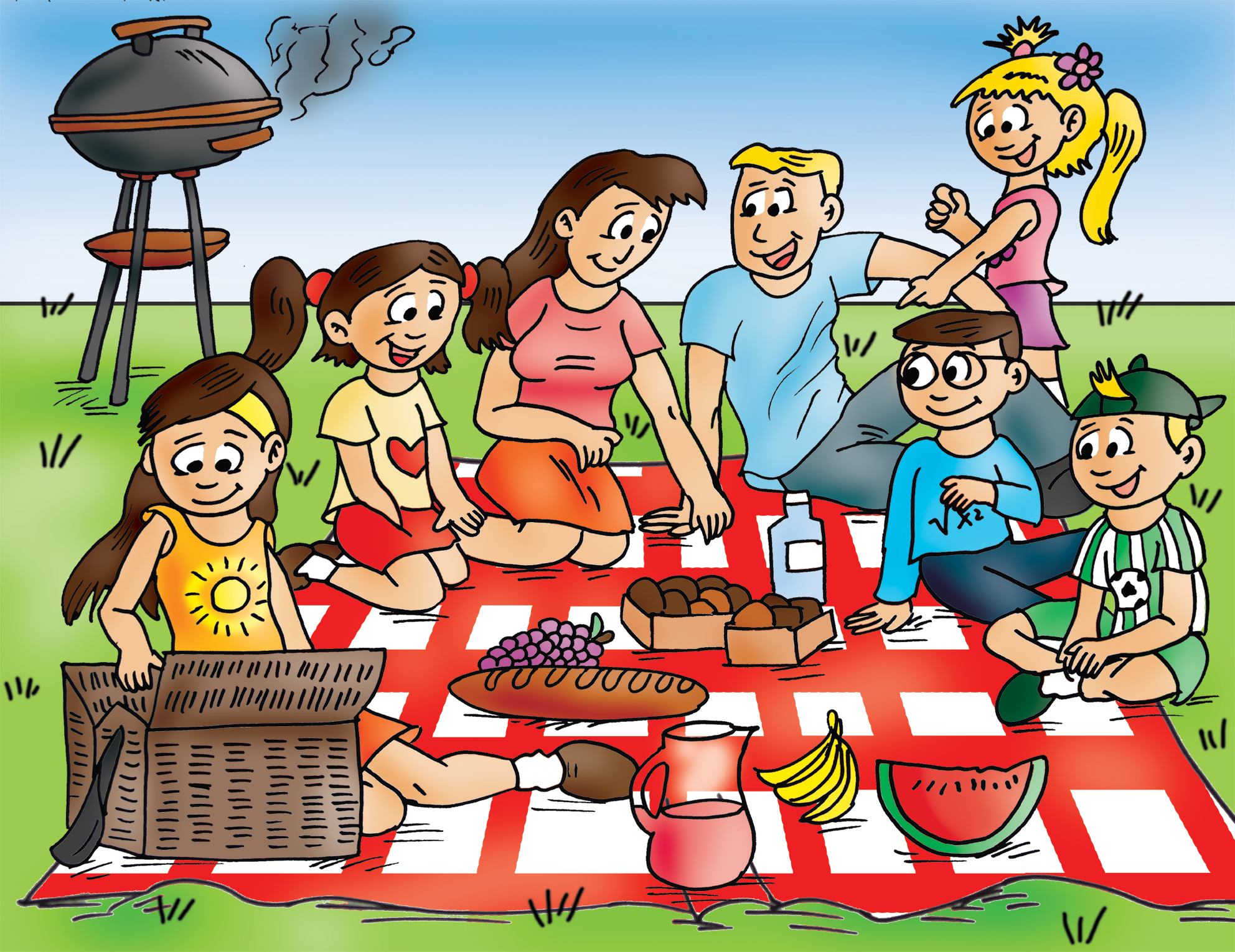 hight resolution of family picnic clipart family