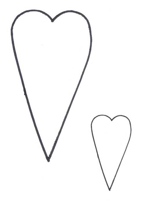 Pattern heart outline clipart