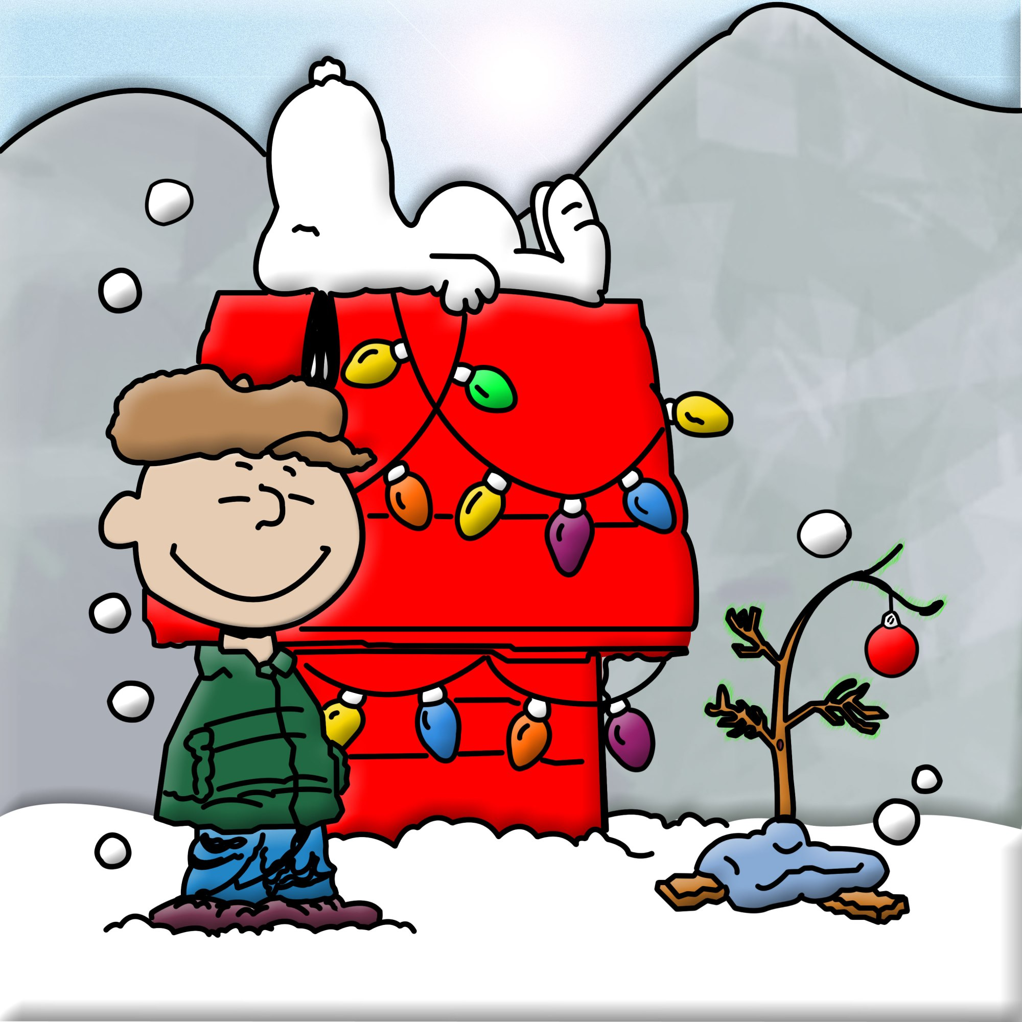 hight resolution of snoopy and charlie brown christmas clipart