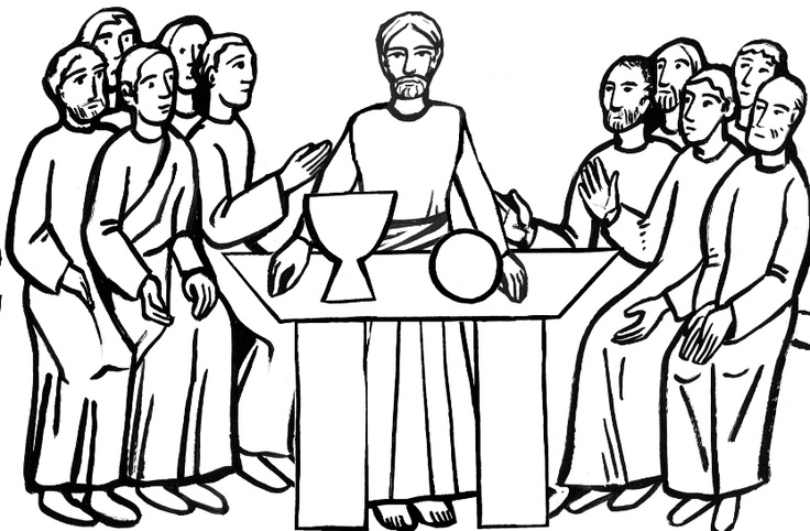 The last supper clipart