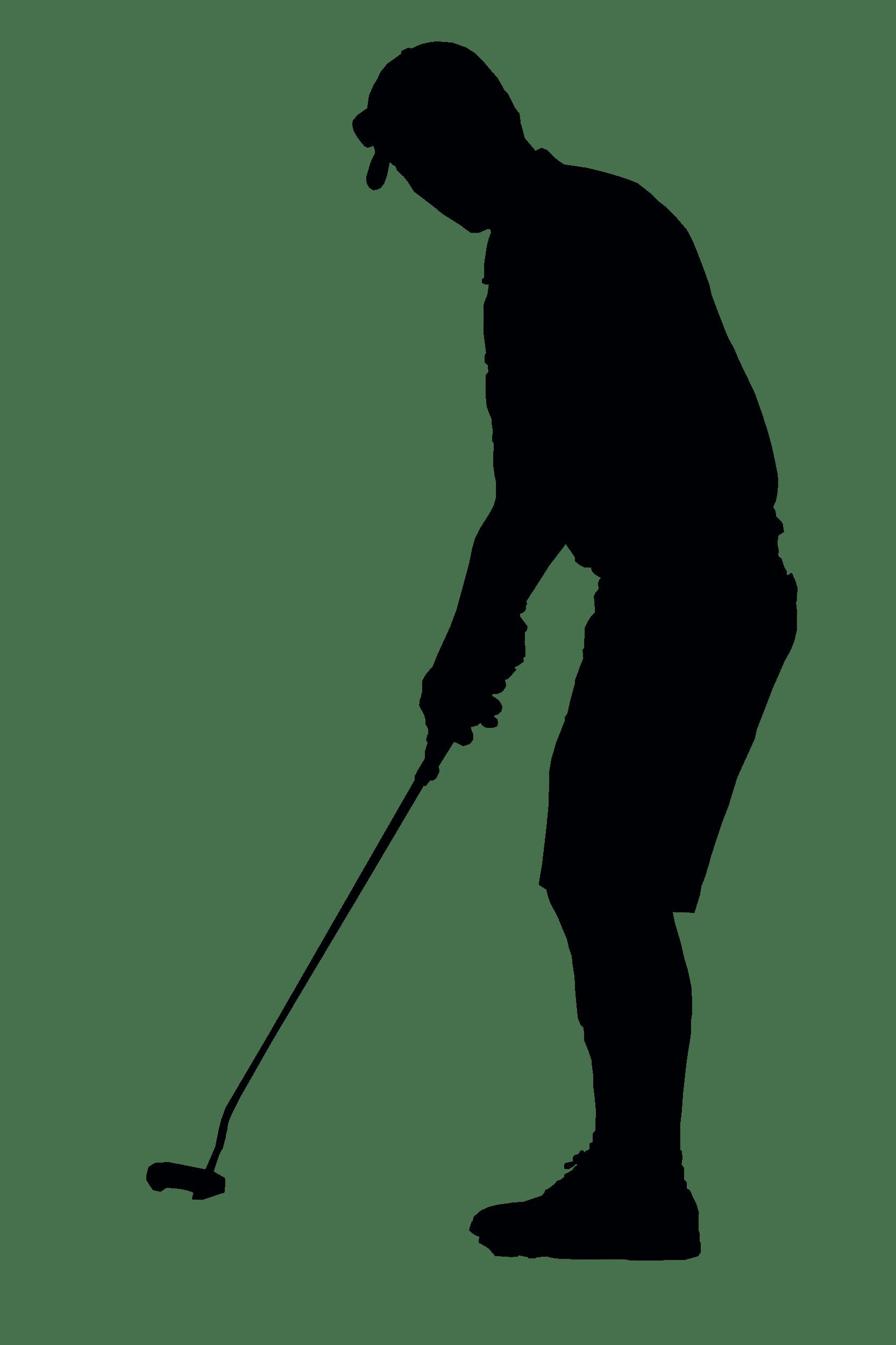 hight resolution of golfer
