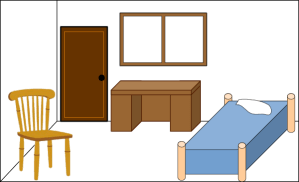 clipart bedroom empty clip clean living bed dining cliparts vector background library animated storage clipartmag