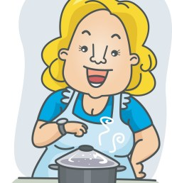 mom cooking clipart [ 1149 x 1600 Pixel ]