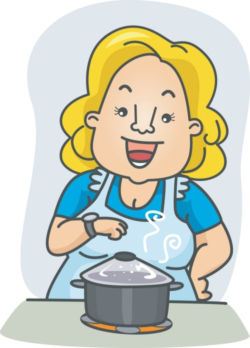 small resolution of mom cooking clipart