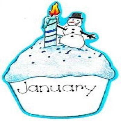 free january birthday cliparts